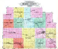 Morris County Outline Map, Morris County 1923